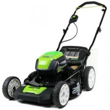 """Greenworks (21"""") 80-Volt Lithium-Ion 3-In-1 Cordless Electric Lawn Mower (Mower Only - No Battery or Charger)"""
