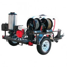 Pressure-Pro Professional 4000 PSI (Gas-Hot Water) Direct Drive Trailer Pressure Washer