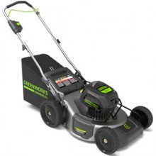 """Greenworks GM 210 (21"""") 82-Volt Cordless Lithium Ion 3-In-1 Commercial Push Lawn Mower (Tool Only)"""