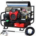 Pressure-Pro Professional 3500 PSI (Gas-Hot Water) Super Skid Belt-Drive Pressure Washer w/ Electric Start Honda Engine