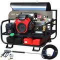 Pressure-Pro Professional 3500 PSI (Gas-Hot Water) Super Skid Belt-Drive Pressure Washer w/ Electric Start Honda Engine
