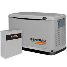 Generac Guardian 17kW Aluminum Standby Generator System (200A Service Disconnect + AC Shedding)