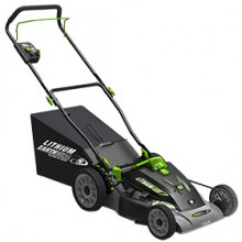 "Earthwise (18"") 40-Volt Cordless Lithium Ion 3-in-1 Electric Mower"