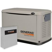Generac Guardian 11kW Standby Generator System (200A Service Disconnect + AC Shedding)