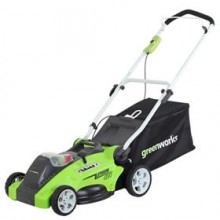 "Greenworks (16"") G-Max 40-Volt Lithium-Ion Cordless 2-In-1 Lawn Push Mower"