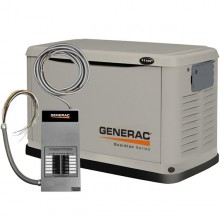 Generac Guardian 11kW Standby Generator System (50A 12-Circuit Automatic Switch)