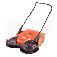 "Haaga (38"") Battery Powered Triple Brush Push Power Sweeper"